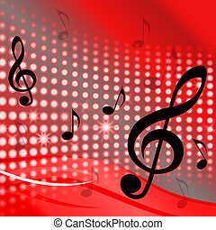 Treble Clef Background Shows Music Notes And Composer Tone -...