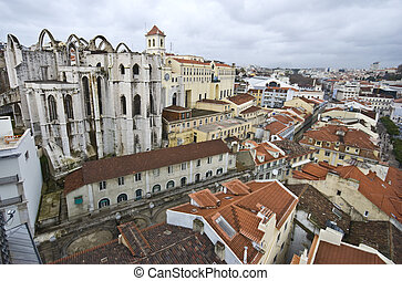 Igreja do Carmo - ruin of the church standing on top of the...