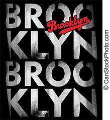 Brooklyn - typographical demonstration of big cities