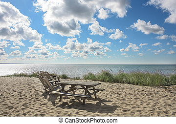 Cape Cod beach at Provincetown, MA - Beautiful beach on Cape...