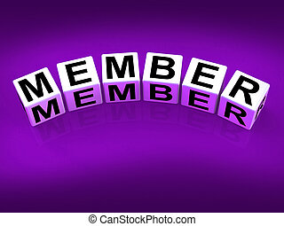 Member blocks Show Subscription Registration and Membership