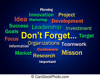 Dont Forget Brainstorm Shows Remembering Business Components...
