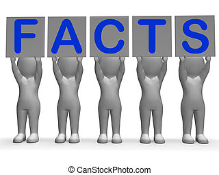 Facts Banners Means Truth Information And Knowledge - Facts...