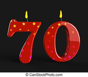 Number Seventy Candles Meaning Special Anniversary Or Birthday Party