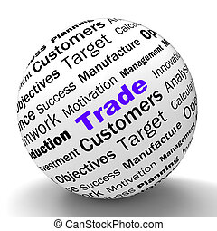 Trade Sphere Definition Shows Stock Trading Or Sharing