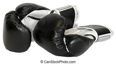 Boxing gloves isolated with clipping path
