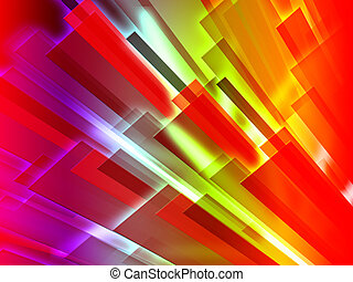 Colourful Bars Background Shows Graphic Design Or Digital...