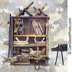 Tools - Rusty Carpenter cabinet