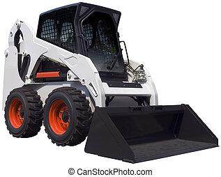 White bulldozer