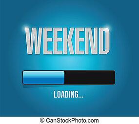 weekend illustration design over a blue background
