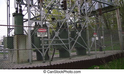 High voltage electrical - Zoom into a high voltage...