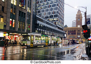 Melbourne tramway network - MELBOURNE, AUS - APR 10...