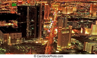 Las Vegas Strip View Cropped - High definition time lapse of...