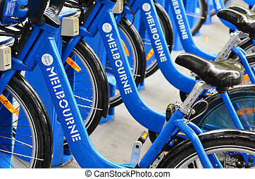 Melbourne Bike Share - MELBOURNE, AUS - APR 10...