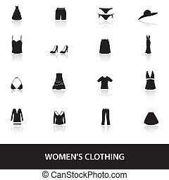 womens clothing icons eps10