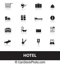 hotel and motel simple icons eps10