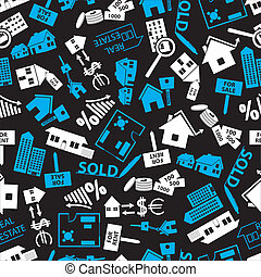 real estate blue, white and black pattern eps10