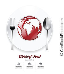Infographic world of food Design template tomato sauce on...