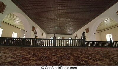 Prayer hall interior of Big Khan Mosque in Bakhchysaray, Crimea
