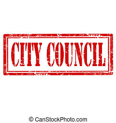 City Council-stamp - Grunge rubber stamp with text City...