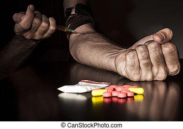 Injecting Narcotics
