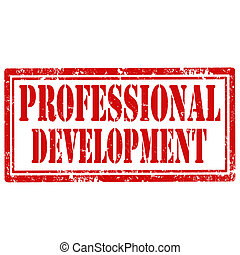 Professional Development-stamp - Grunge rubber stamp with...