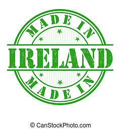 Made in Ireland stamp - Made in Ireland grunge rubber stamp...