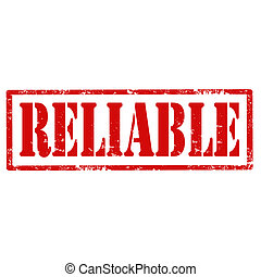 Reliable-stamp - Grunge rubber stamp with text...