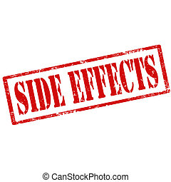 Side Effects-stamp - Grunge rubber stamp with text Side...