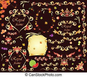 Autumnal retro design