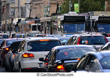 Melbourne tramway network - MELBOURNE, AUS - APR 13...