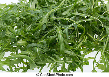 Heap of ruccola leaves
