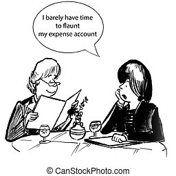Expense account - Businesswoman has an expense account