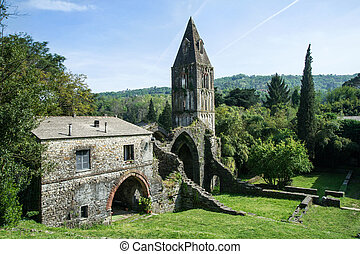 Monastery of Valle Christi - ruins of an old abbey suspended...