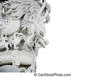 Chinese dragon, Chinese temple stone carved white scenes.