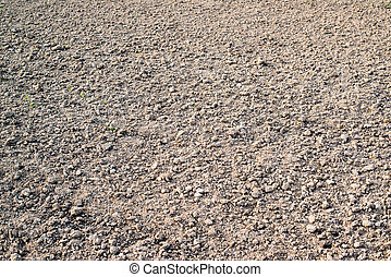 ploughed field - ploughed agriculture field before sowing in...
