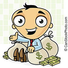 Rich man Illustrations and Clipart. 9,773 Rich man royalty free ...