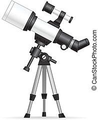 Telescope illustration isolated on white.