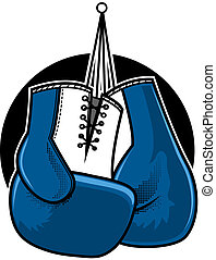 Boxing Gloves - Blue boxing gloves vector illustration
