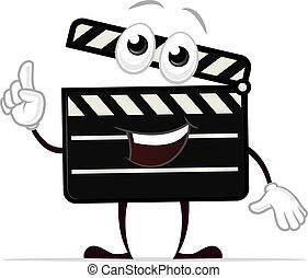 Clapboard Mascot - Clapper board vector cartoon character...