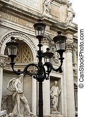 Lamp Post - An ornate lamp post adjacent to the Trevi...