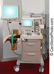 Anesthesia machine - Anaesthetic machine and patient...