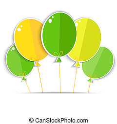 Greeting card with a color balloons Vector EPS10
