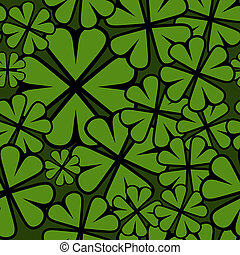 Seamless St. Patricks Day shamrock leaf pattern.