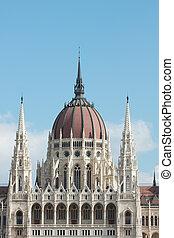 Parlament - Detail of the Hungarian Parliament building