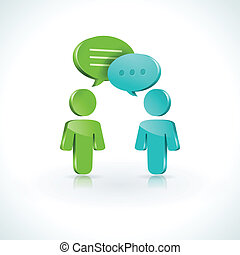 Dialogue speech bubbles - Vector symbol of conversation with...