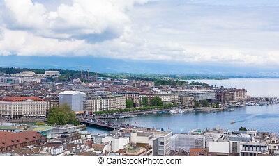 Timelapse Geneva Mont Blanc bridge - Timelapse of Geneva...