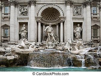 The Trevi Fountain - Rome - The Trevi Fountain, Rome, Italy,...