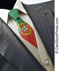 Wedding dress with flag Portugal on tie - Elegant wedding...
