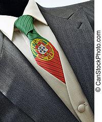casório, Vestido, bandeira, PORTUGAL, laço